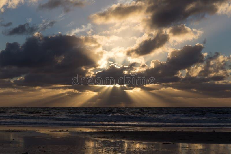 Coucher du soleil chez San Diego County photos stock