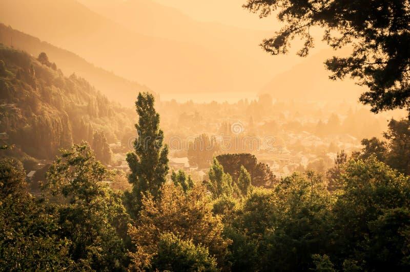Coucher du soleil chez San Martin images libres de droits