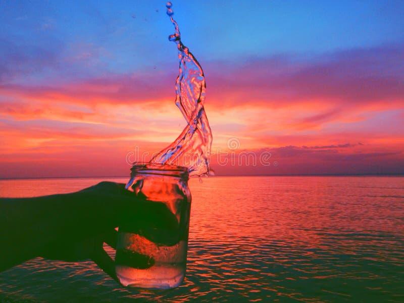 Coucher du soleil créatif photo stock