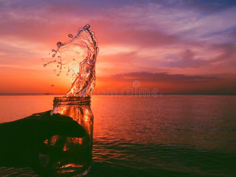 Coucher du soleil créatif de tir photo libre de droits