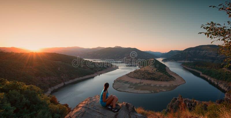Coucher du soleil d'été, Bulgarie image stock