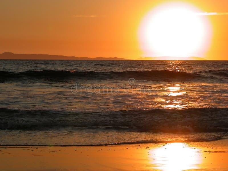 Coucher du soleil d'île de Catalina - la Californie photo libre de droits
