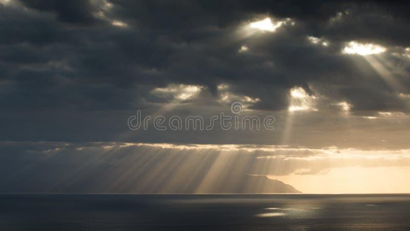 Coucher du soleil d'Adeje images stock