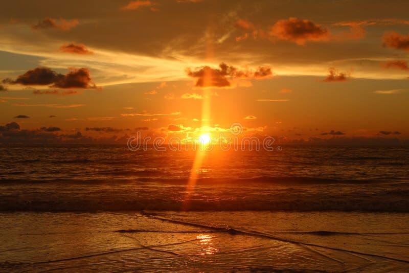 Coucher du soleil d'Andaman photos libres de droits