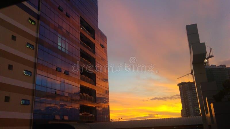 Coucher du soleil d'après-midi photographie stock