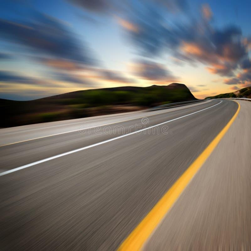 Coucher du soleil d'art de route images libres de droits