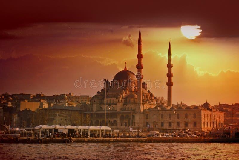 Coucher du soleil d'Istanbul photo libre de droits