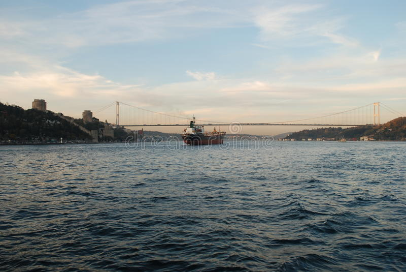 Coucher du soleil d'Istanbul images libres de droits
