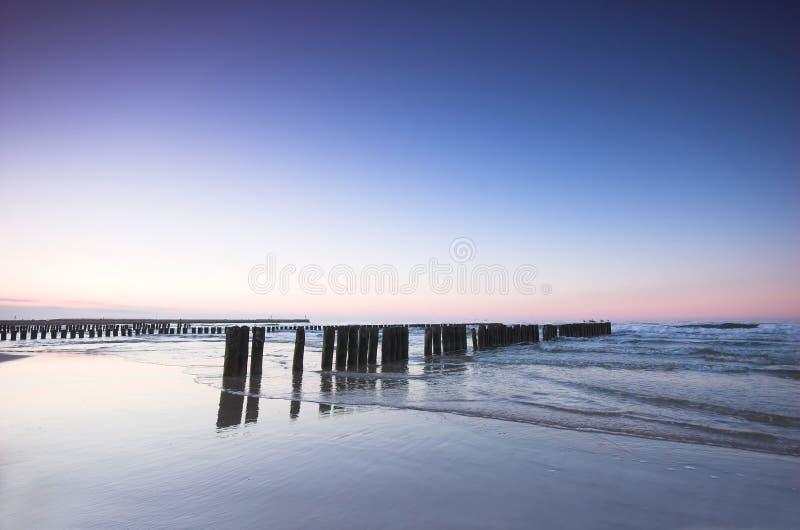 Coucher du soleil d'océan images libres de droits