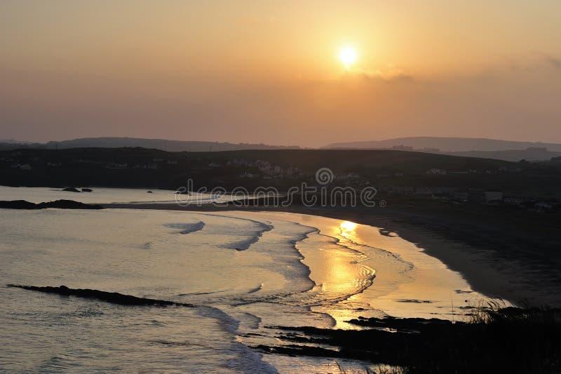 coucher du soleil d'owenahinchia photographie stock