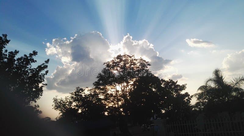 Coucher du soleil dans Barberton photo libre de droits