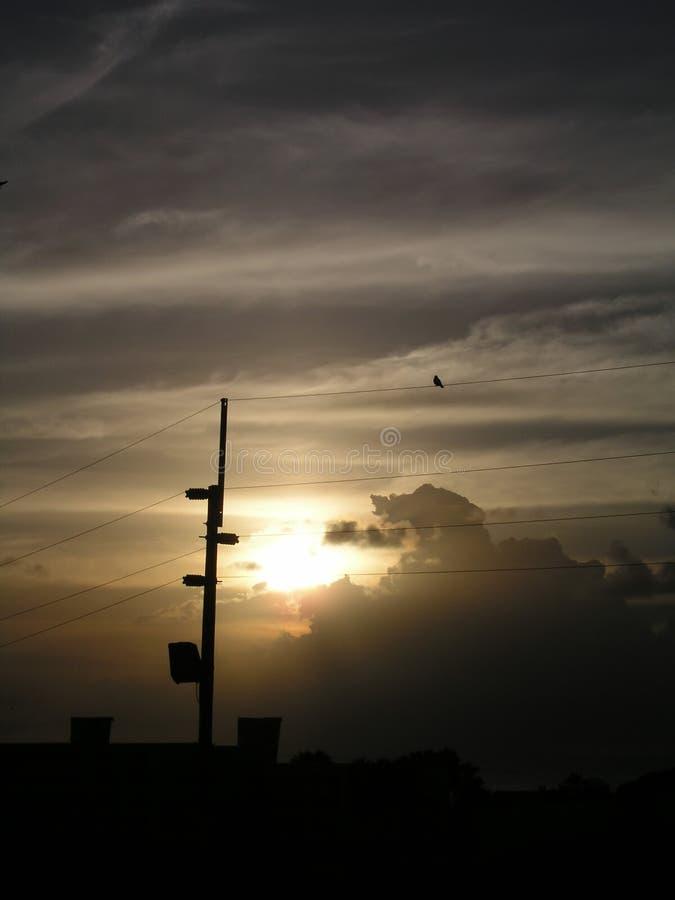 Coucher du soleil dans Curaçao images stock