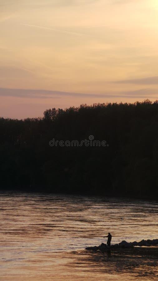 Coucher du soleil dans Devin photographie stock libre de droits