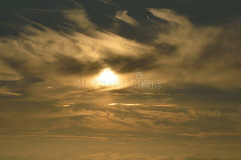 Coucher du soleil dans Julianadorp Pays-Bas photo libre de droits