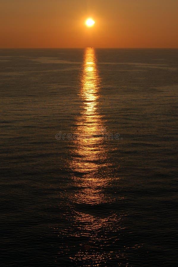 Coucher du soleil dans la Manche photos stock