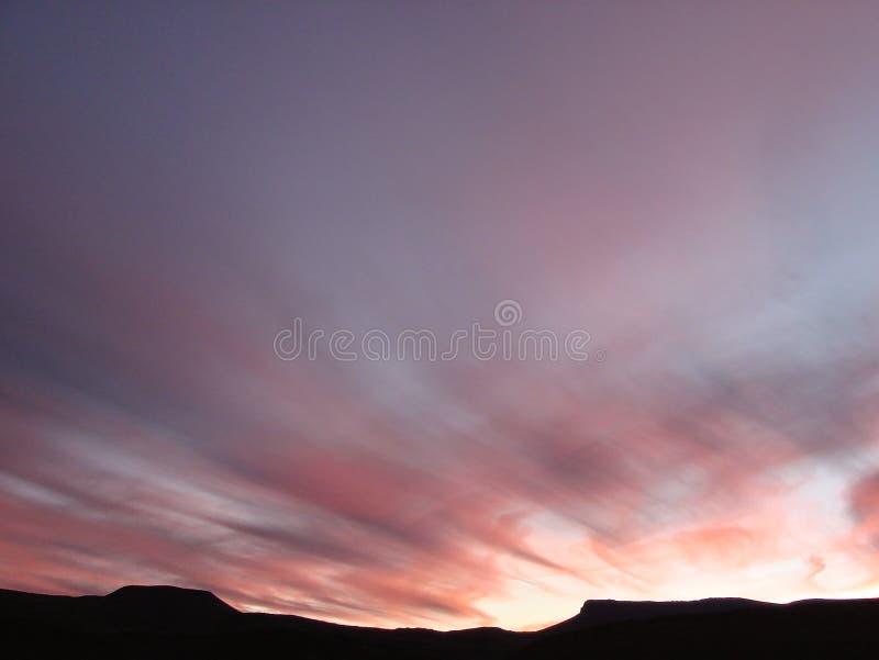 Coucher du soleil dans le Karoo images libres de droits