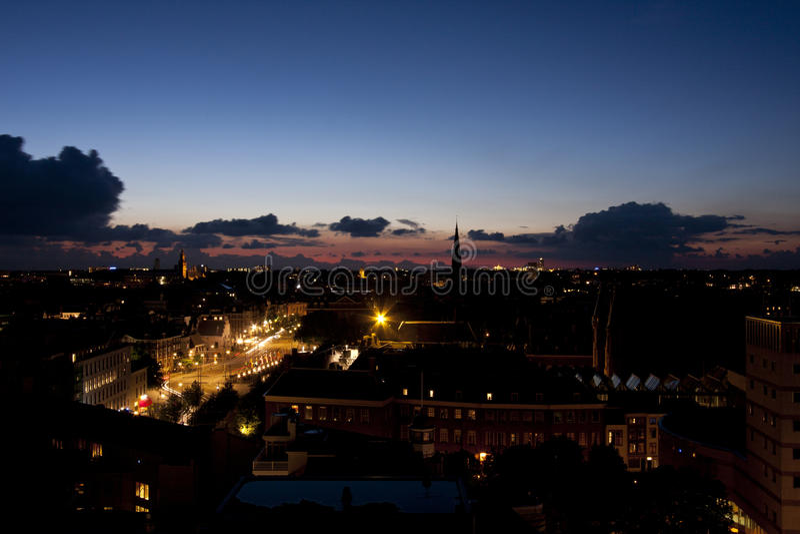 Coucher du soleil dans le repaire Haag photo libre de droits