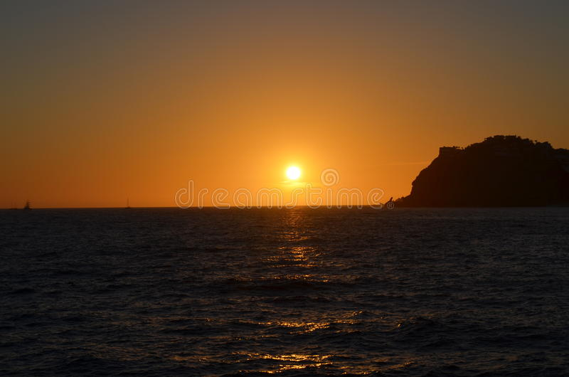 Coucher du soleil dans Los Cabos au Mexique image stock