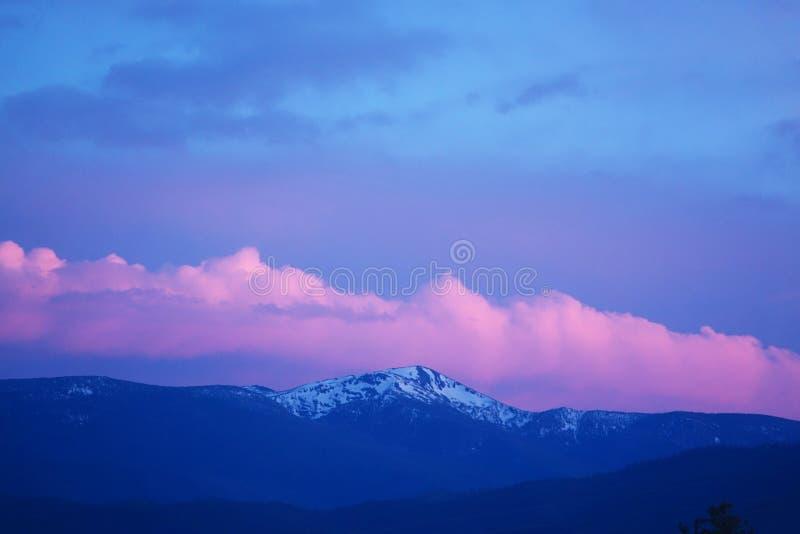 Coucher du soleil dans Missoula, Montana photos libres de droits