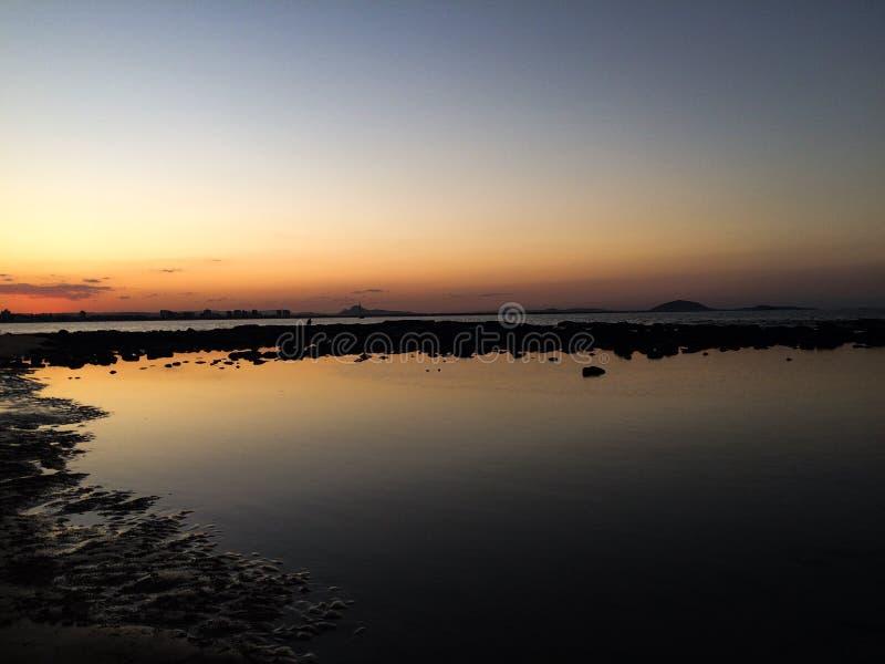 Coucher du soleil dans Mooloolaba images stock