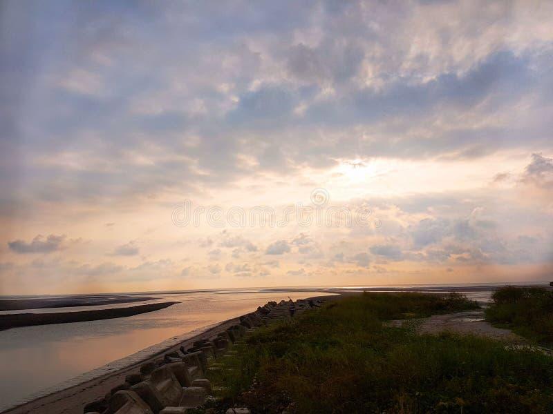 Coucher du soleil dans Taiwan photographie stock