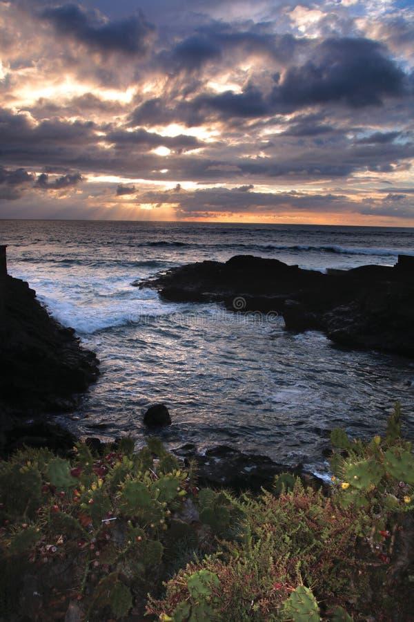 Coucher du soleil dans Tenerife Les Îles Canaries photographie stock