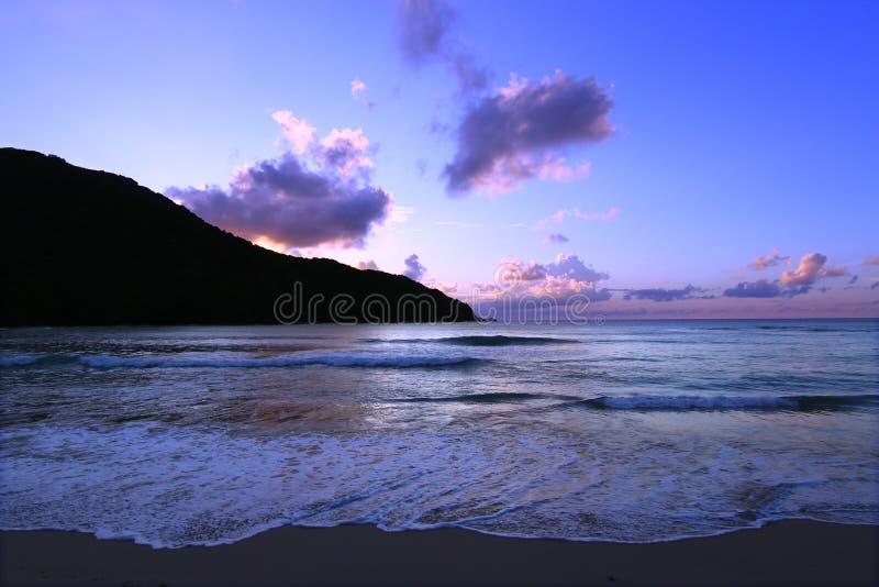 Coucher du soleil dans Tortola Îles Vierges photographie stock libre de droits