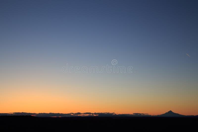 Coucher du soleil dans Warm Springs images stock