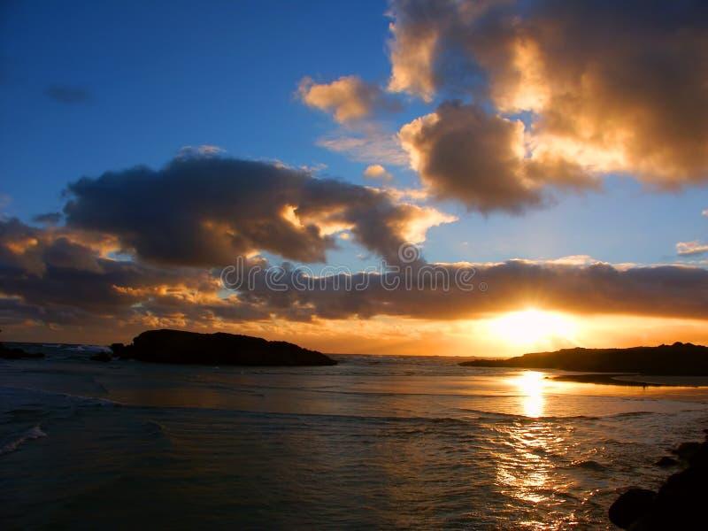 Coucher du soleil dans Warrnambool Australie images stock
