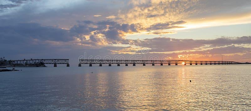 Coucher du soleil de Bahia Honda State Park image stock