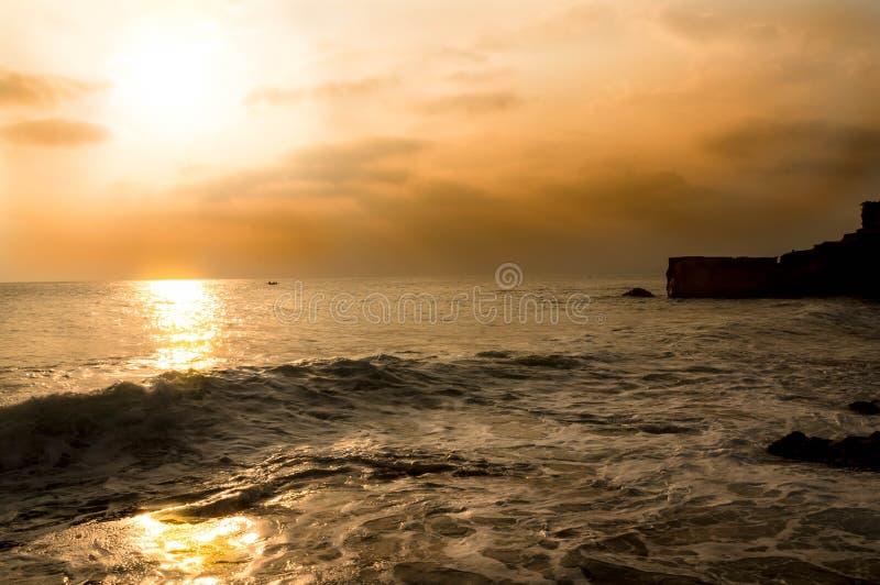 Coucher du soleil de Bali images libres de droits