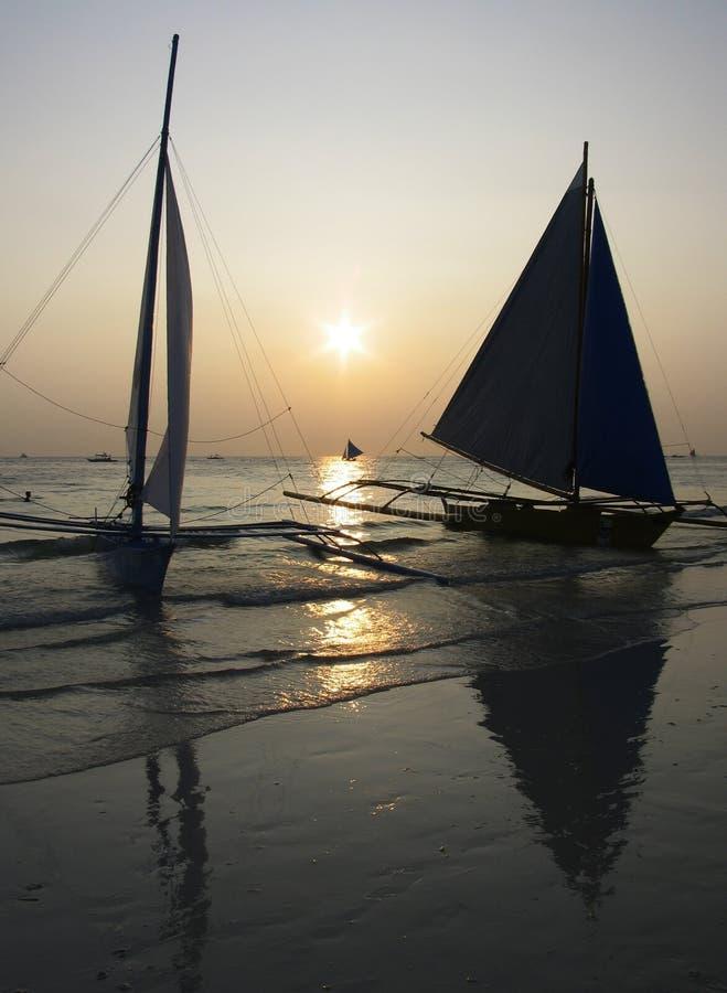 Coucher du soleil de Boracay photos libres de droits