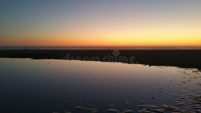 Coucher du soleil de côte de l'Orégon photographie stock