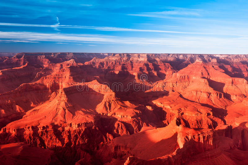 Coucher du soleil de canyon grand photos stock