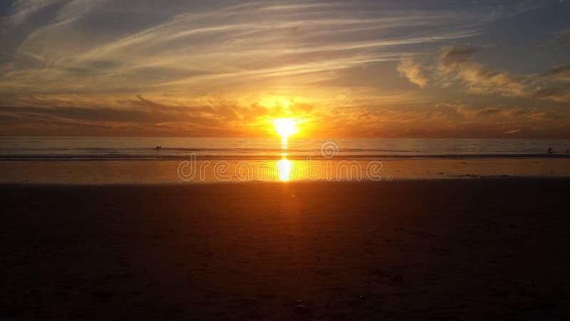 Coucher du soleil de Carlsbad la Californie images libres de droits