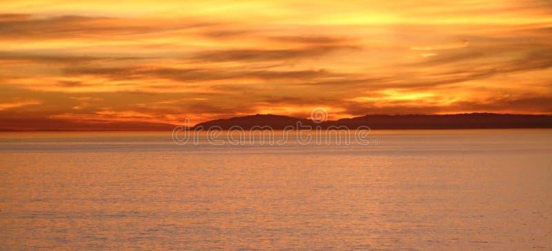 Coucher du soleil de Catalina photos stock