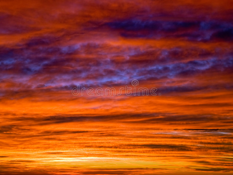 coucher du soleil de cloudscape photographie stock