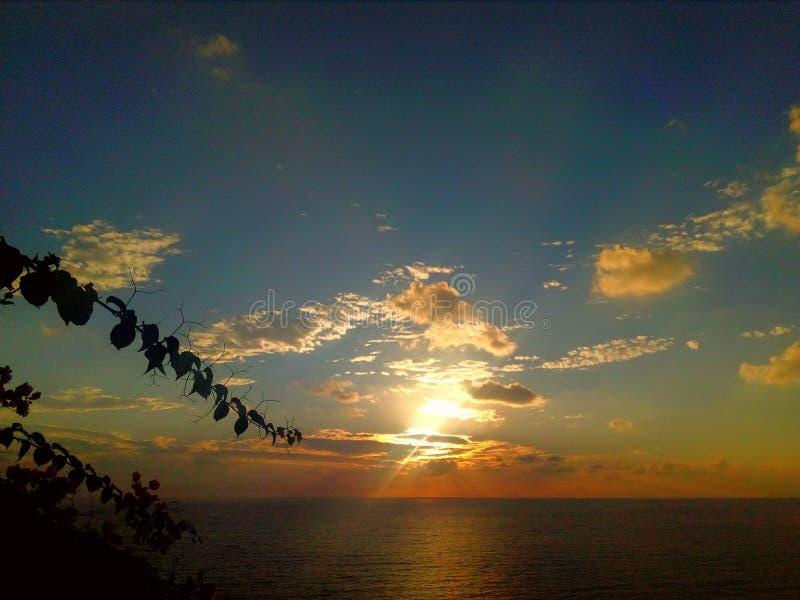 Coucher du soleil de couleur images libres de droits