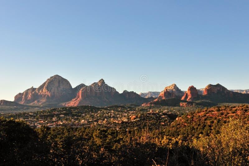 coucher du soleil de désert de l'Arizona photo libre de droits