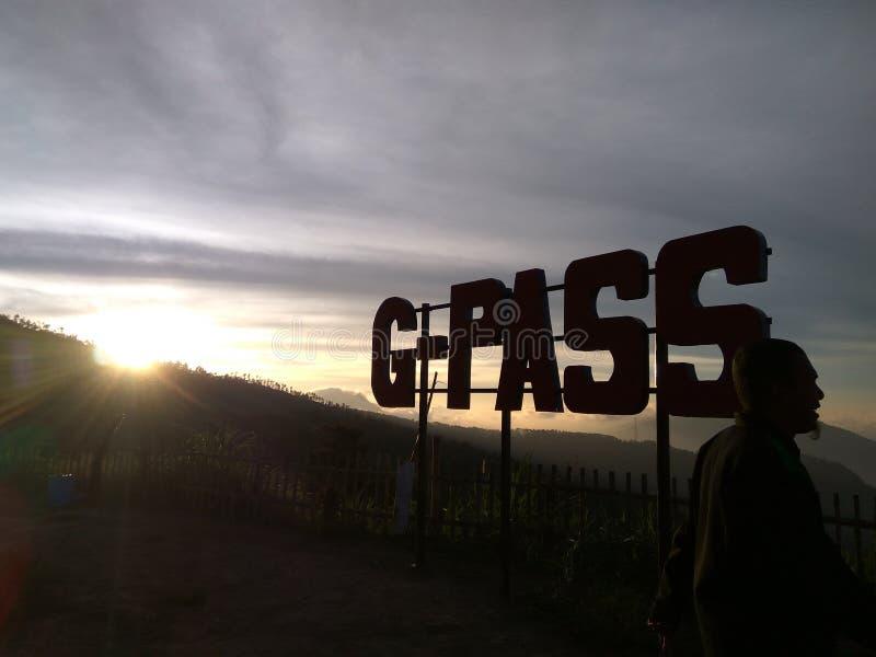 coucher du soleil de G-passage image stock