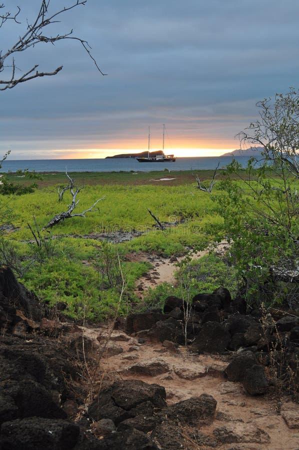Coucher du soleil de Galapagos photos stock