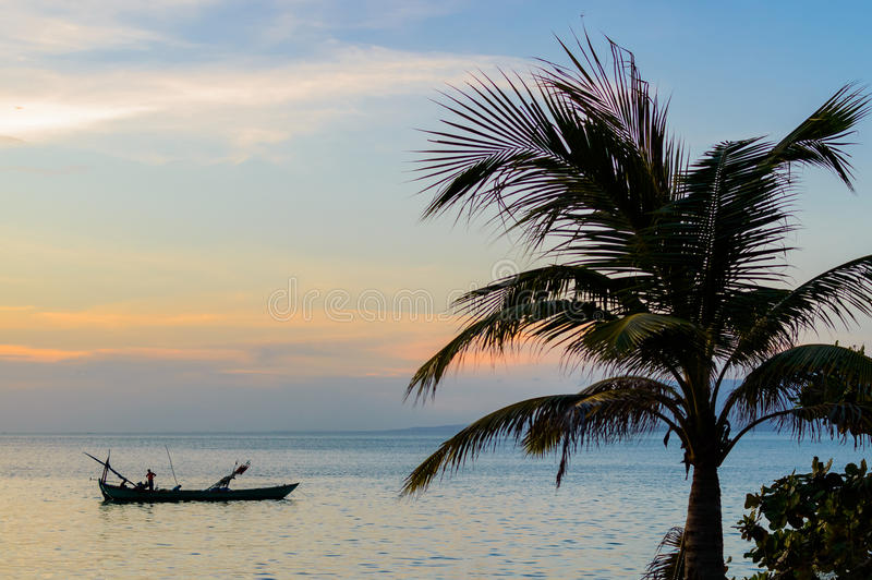 Coucher du soleil de Kep, Cambodge photo libre de droits