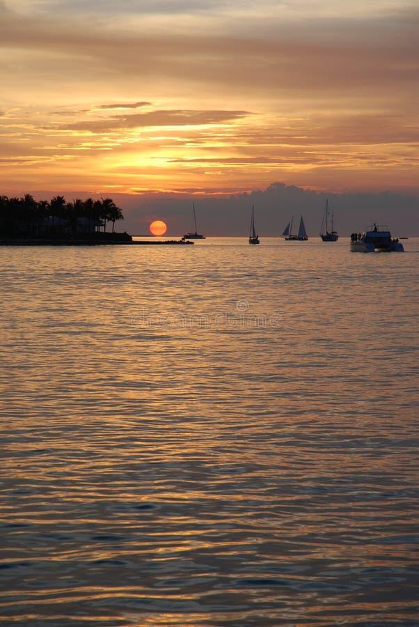 Coucher du soleil de Key West photographie stock