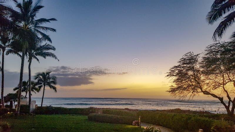 Coucher du soleil de Ko Olina images libres de droits