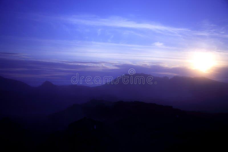 Coucher du soleil de Krafla image stock