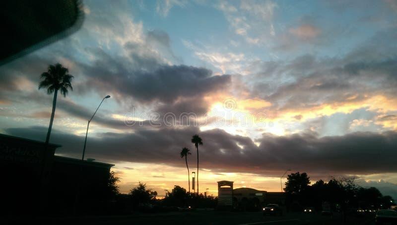 Coucher du soleil de l'Arizona images libres de droits