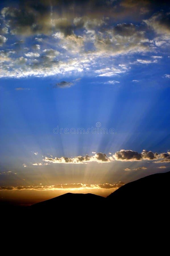 Coucher du soleil de l'emboîtement d'Eagles image stock