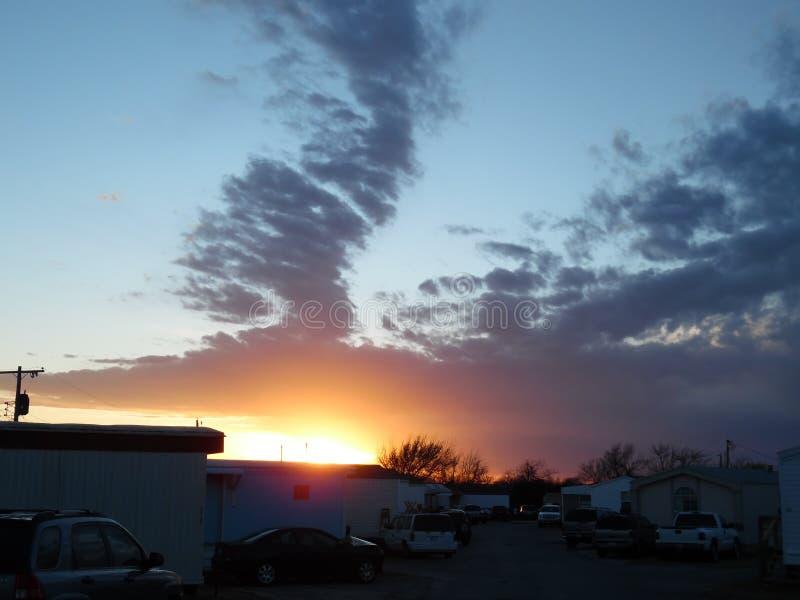 Coucher du soleil de l'Oklahoma image libre de droits