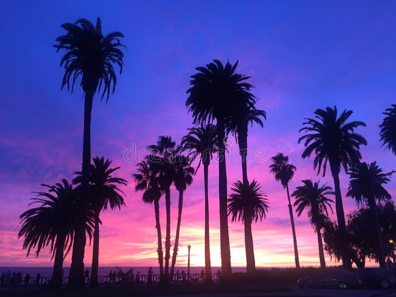 Coucher du soleil de LA photo libre de droits