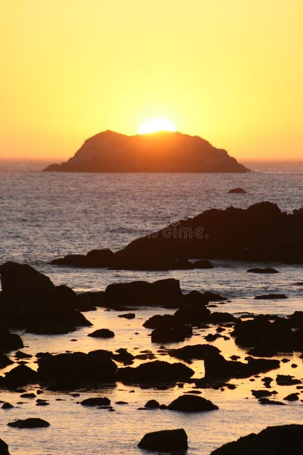 Coucher du soleil de la Californie images stock